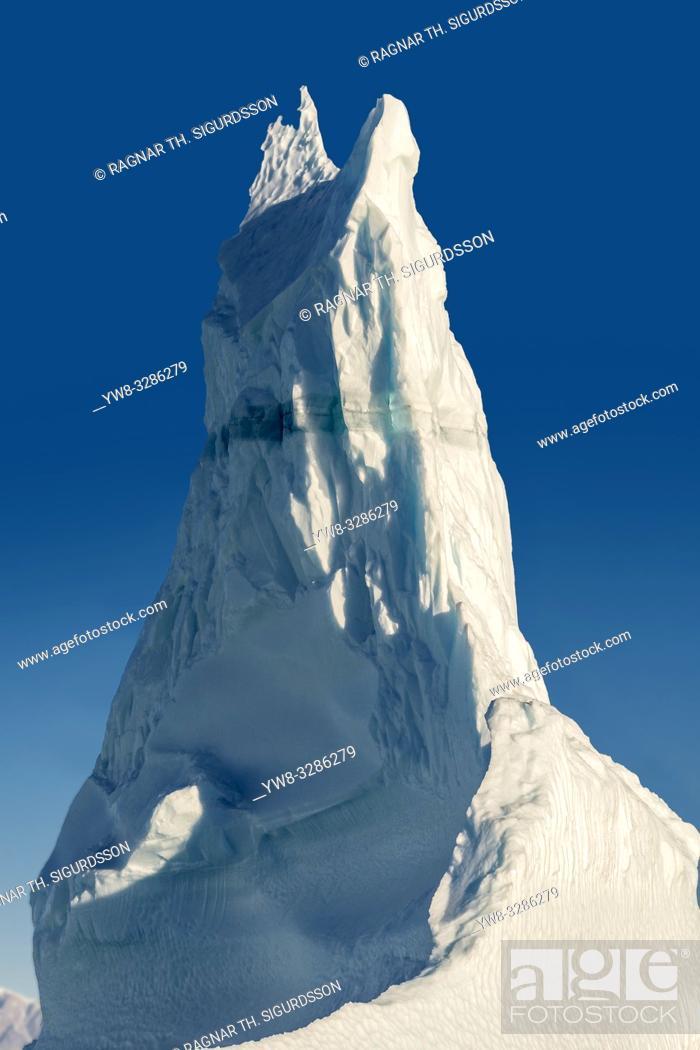 Stock Photo: Iceberg, Scoresbysund, Greenland.