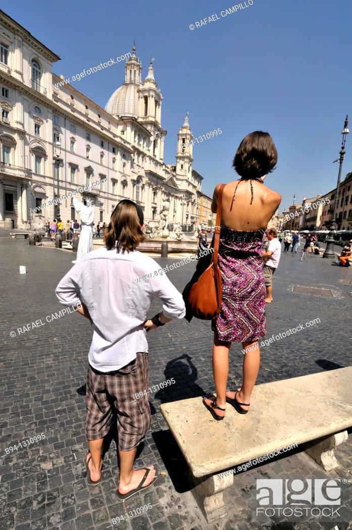 Stock Photo: Piazza Navona square, Rome, Italy.