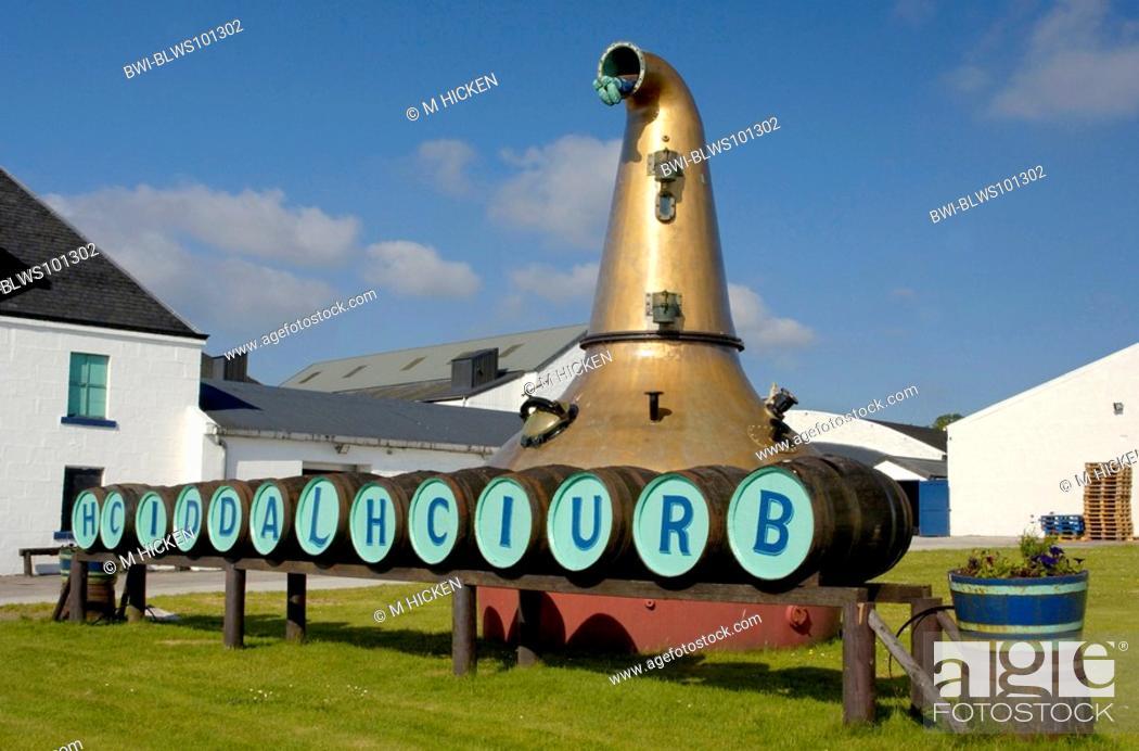 Stock Photo: Bruichladdich distillery, United Kingdom, Scotland, Islay.