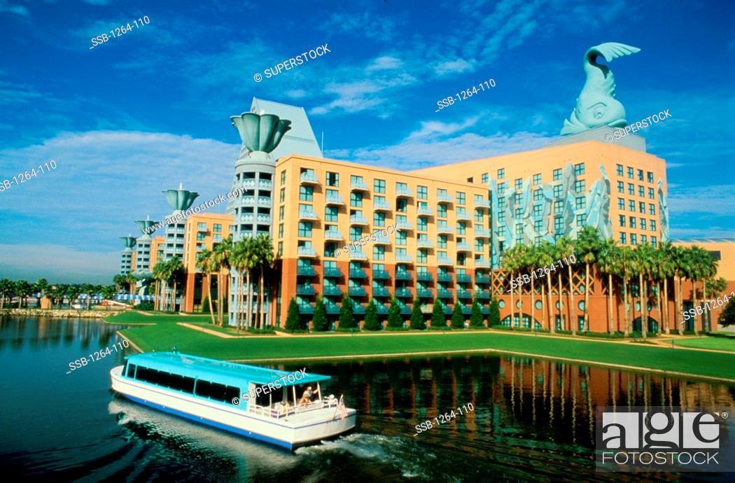 walt disney world dolphin hotel orlando florida usa stock photo