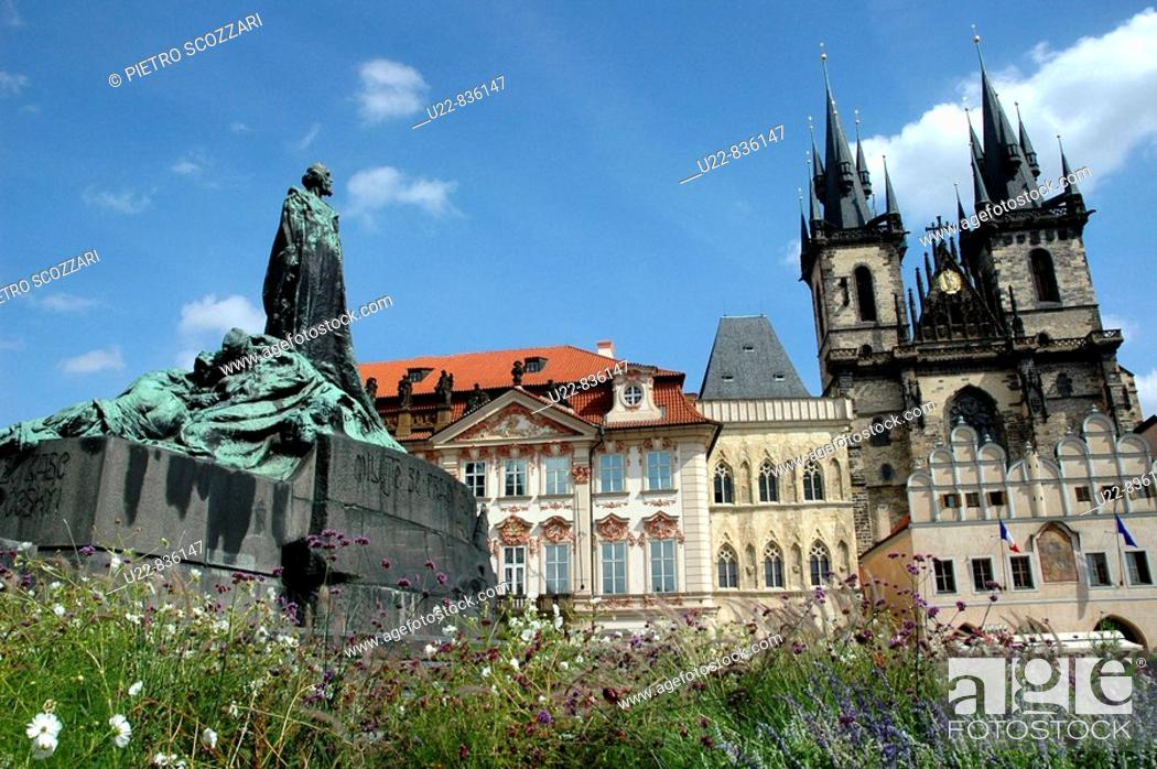 Stock Photo: Prague Czech Republic, Staromestske namesti.