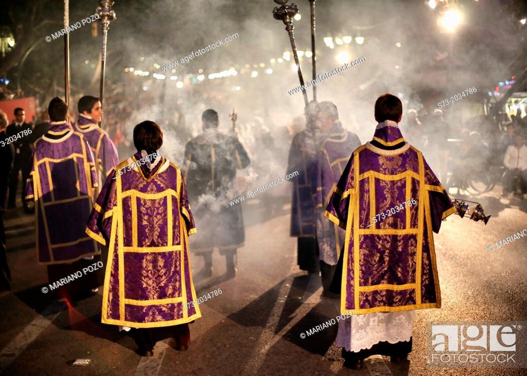 Stock Photo: Holly week celebration in Malaga, Andalucia, Spain.