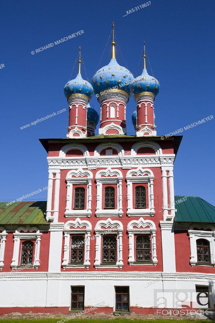 Stock Photo: Church of Prince Demitry the Martyr, Uglich, Golden Ring, Yaroslavl Oblast, Russia.