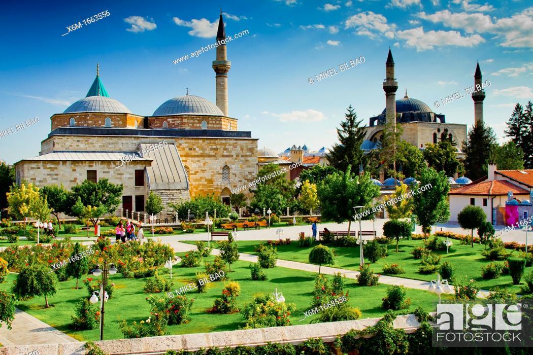 Stock Photo: Mevlana Museum  Konya  Konya province  Turkey.
