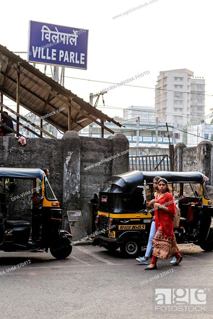 Imagen: Vile Parle Railway Station, Mumbai, Maharashtra, India, Asia.