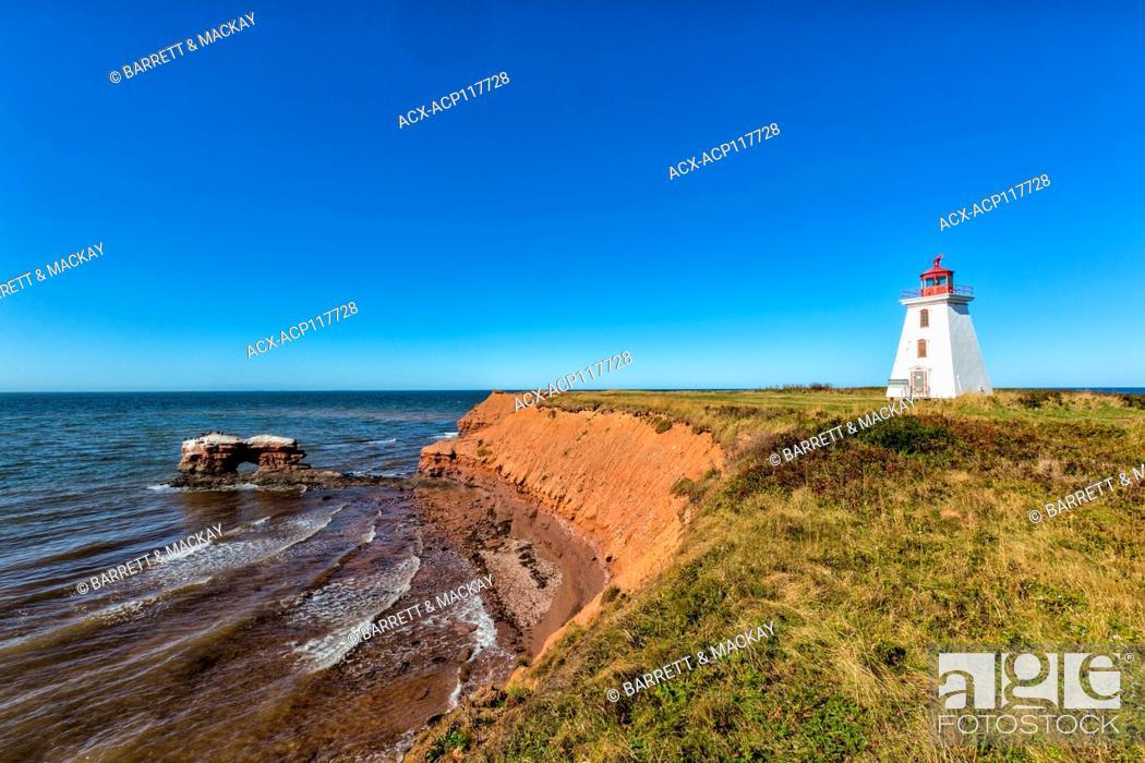 Stock Photo: Cape Egmont lighthouse, Prince Edward Island, Canada.