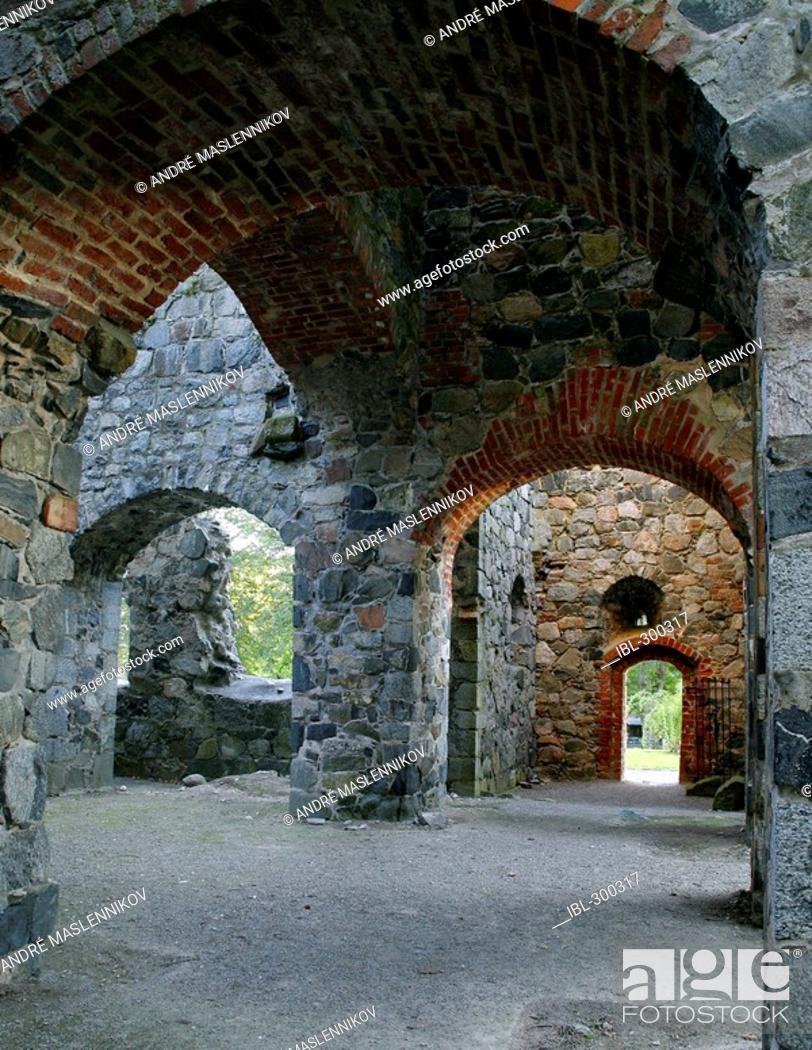 Stock Photo: St Olof's church ruin.