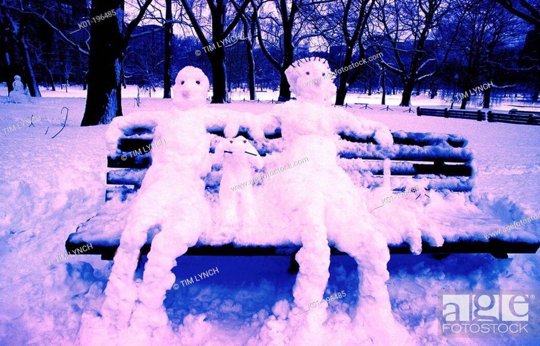Stock Photo: Snowmen.