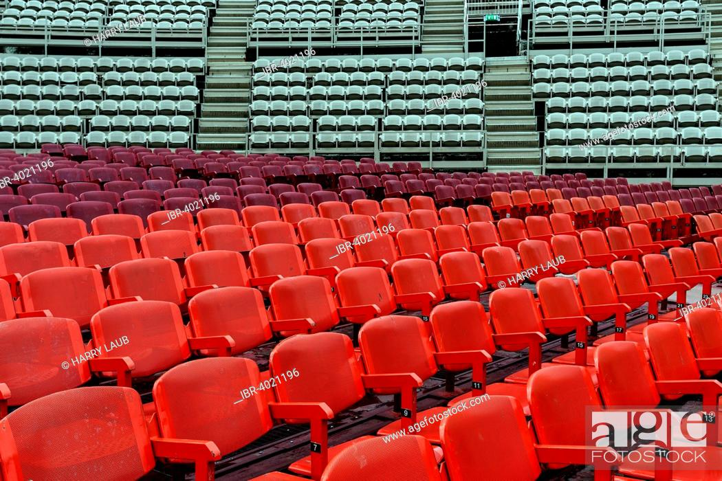 Stock Photo: Seating in the Arena di Verona, Verona province, Veneto, Italy.