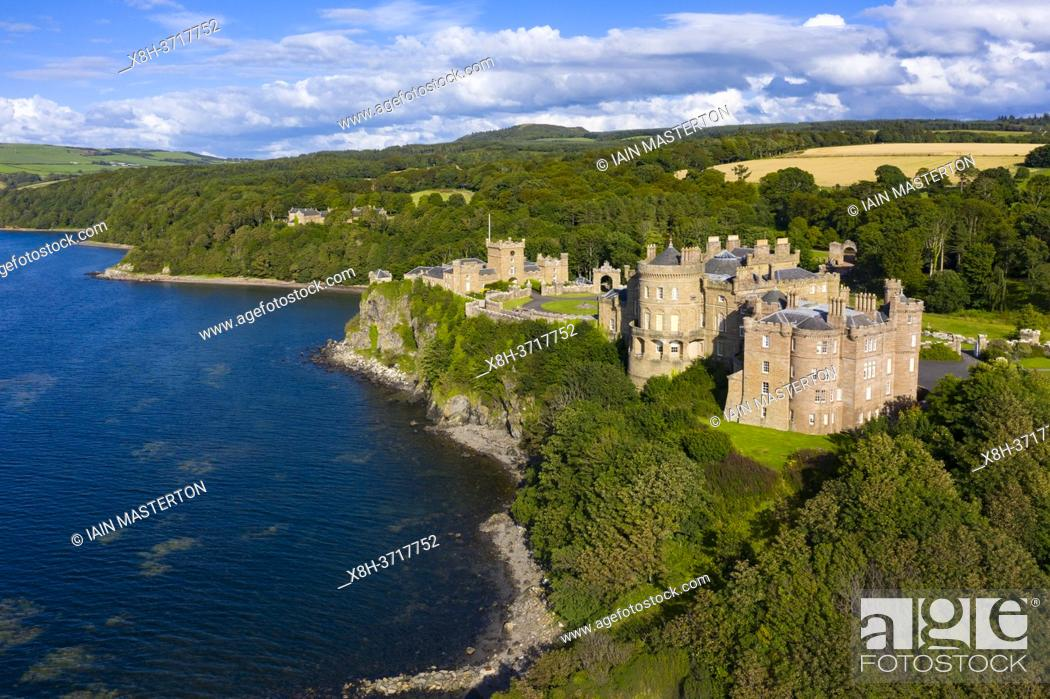 Stock Photo: Aerial view of Culzean Castle in Ayrshire, Scotland, UK.