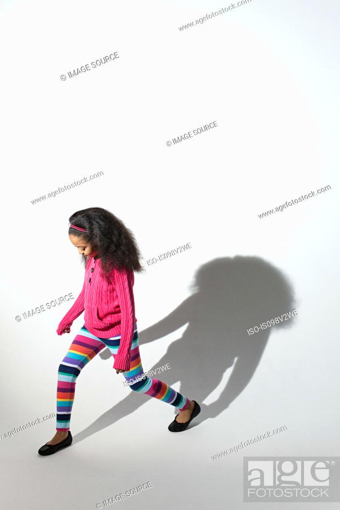 Stock Photo: Girl and shadow.