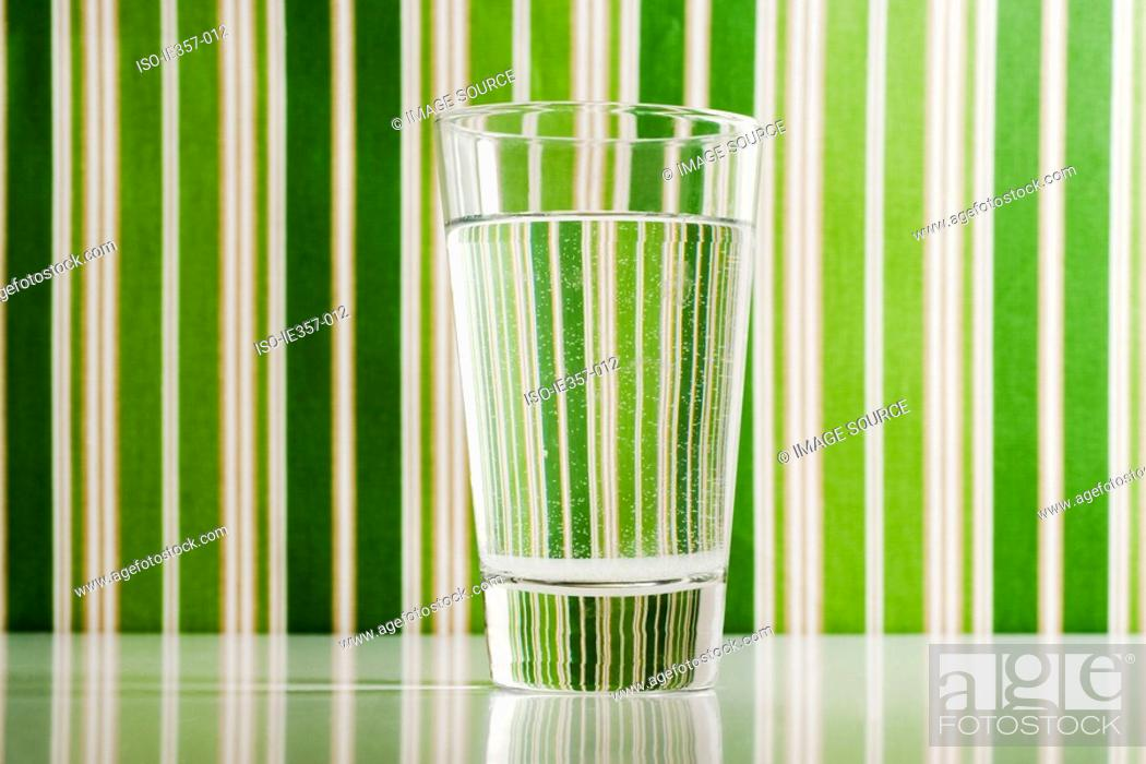 Stock Photo: A glass of water.