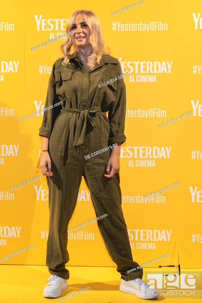 Imagen: Cara during the photocall of film ' Yesterday ' in Milan, ITALY-20-06-2019.