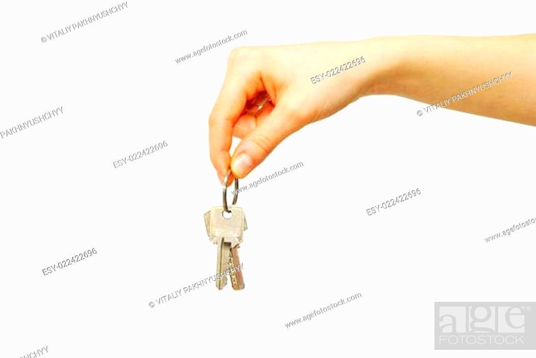 Photo de stock: key in hand.