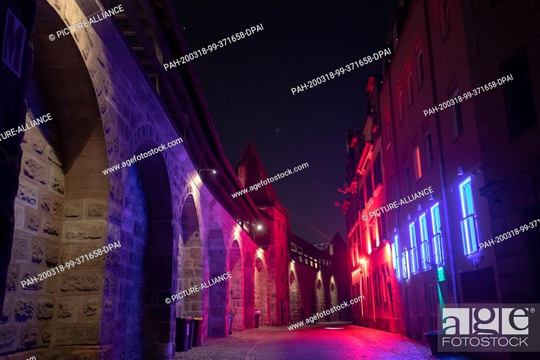 Light nuremberg district red City Walls
