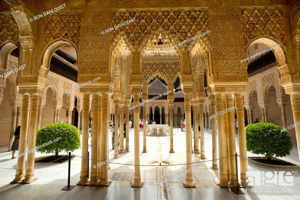 Patio of the Lions at the Nasrid Palace in the Alhambra