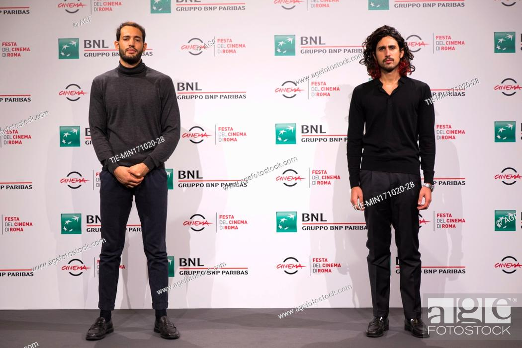 """Stock Photo: Gipo Fasano, Valerio Santucci attends the photocall of the movie """"""""Le Eumenidi"""""""" during the 15th Rome Film Festival on October 17, 2020 in Rome, Italy."""