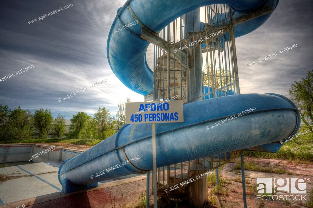 Stock Photo: Abandoned water park, Aranjuez, Spain.