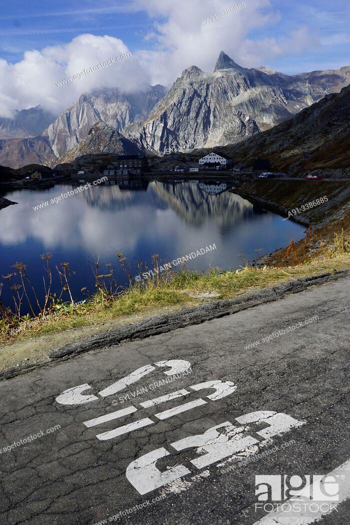 Stock Photo: Swizerland, Valais, Col du Grand Saint Bernard pass.