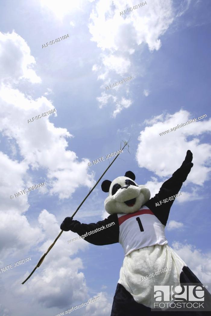 Stock Photo: Panda Throwing Javelin.
