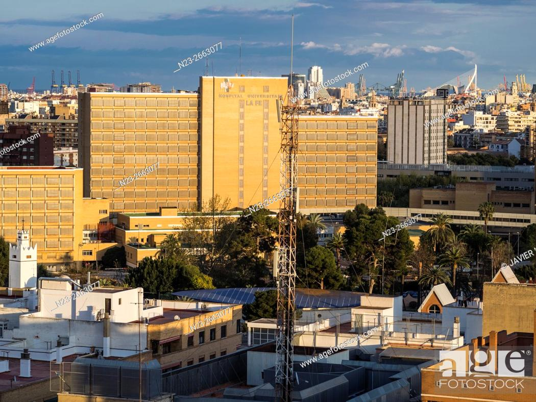 Stock Photo: La Fe hospital, Valencia, Comunidad Valenciana, Spain.