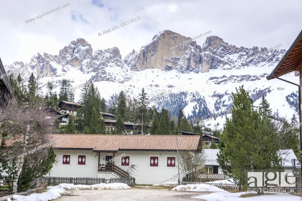 Stock Photo: Italian dolomites in South Tyrol Italy.