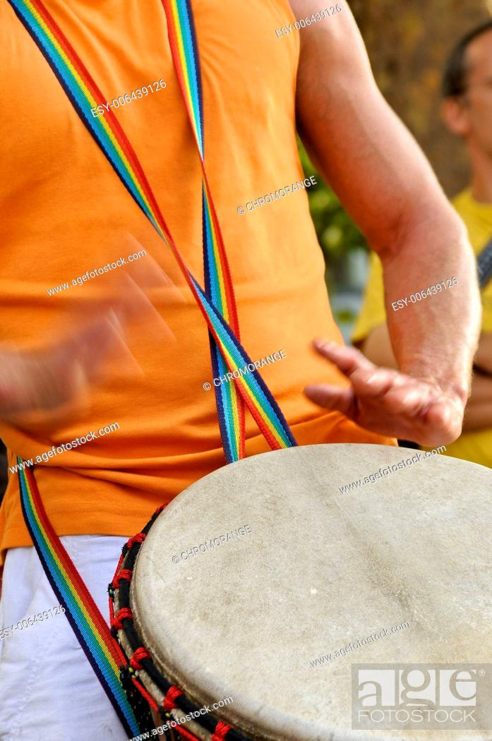 Stock Photo: Drummer.