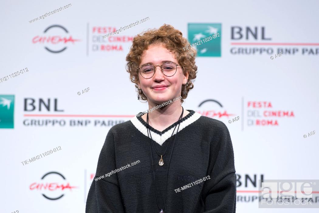 "Stock Photo: Emma Fasano attend the photocall of the movie """"Maledetta Primavera"""" during the 15th Rome Film Festival on October 21, 2020 in Rome, Italy."