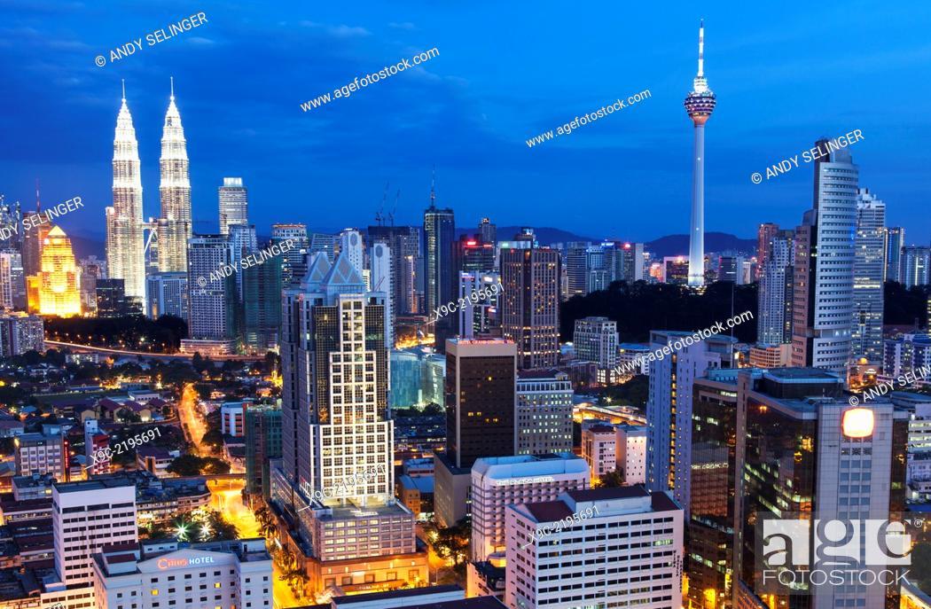 Stock Photo: Kuala Lumpur Skyline, Malaysia.