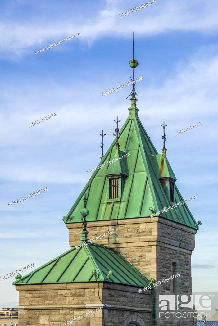 Stock Photo: Canada, Quebec, Quebec City, Porte Kent, city gate.
