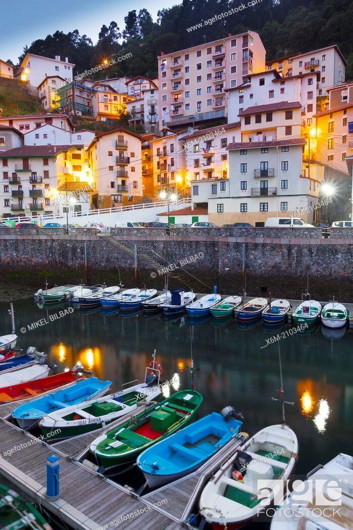 Stock Photo: Elantxobe, Biscay, Basque Country, Spain.