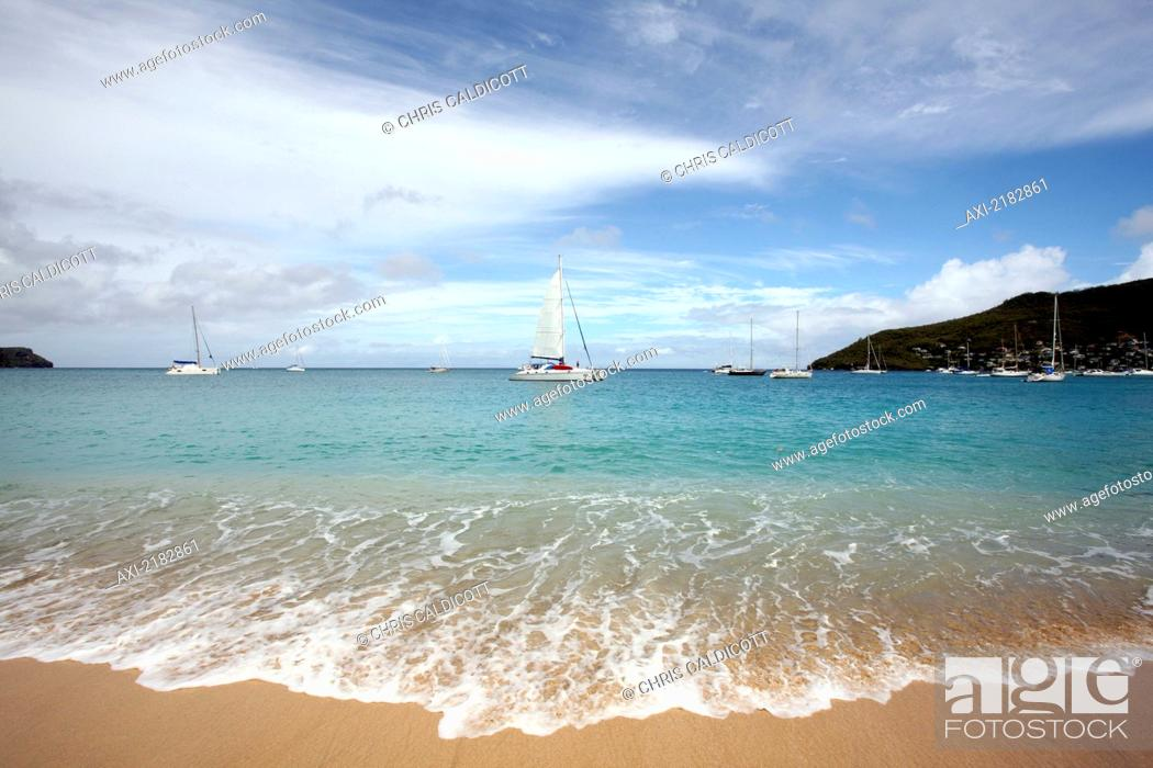 Stock Photo Princess Margaret Beach Bequia Island St Vincent And The Grenadines