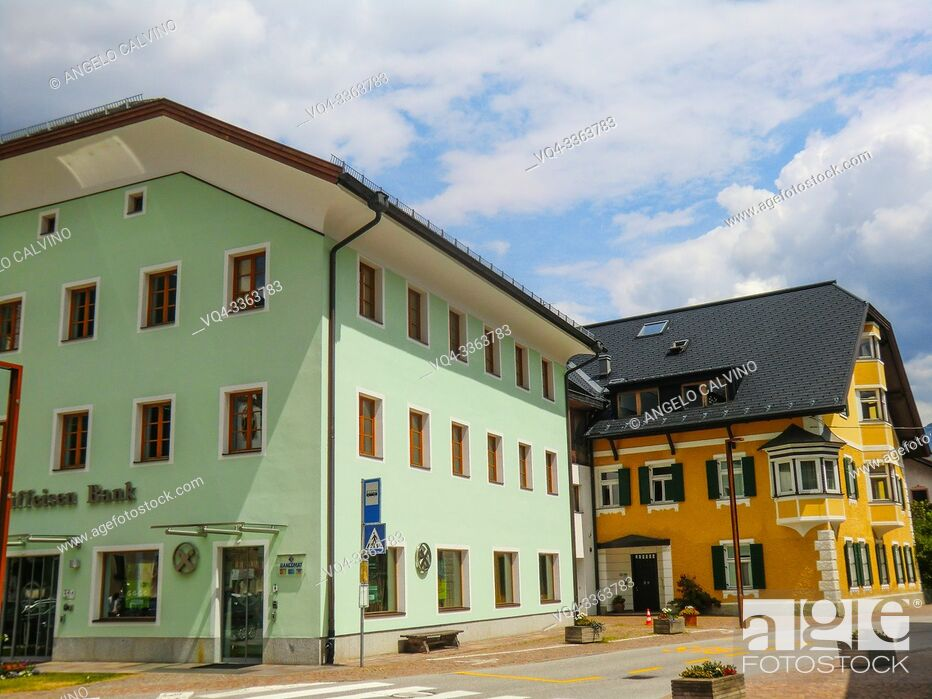Stock Photo: Innichen, Historic centre, San Candido, Province of South Tyrol, Trentino-Alto Adige, Italy, Val Pusteria.
