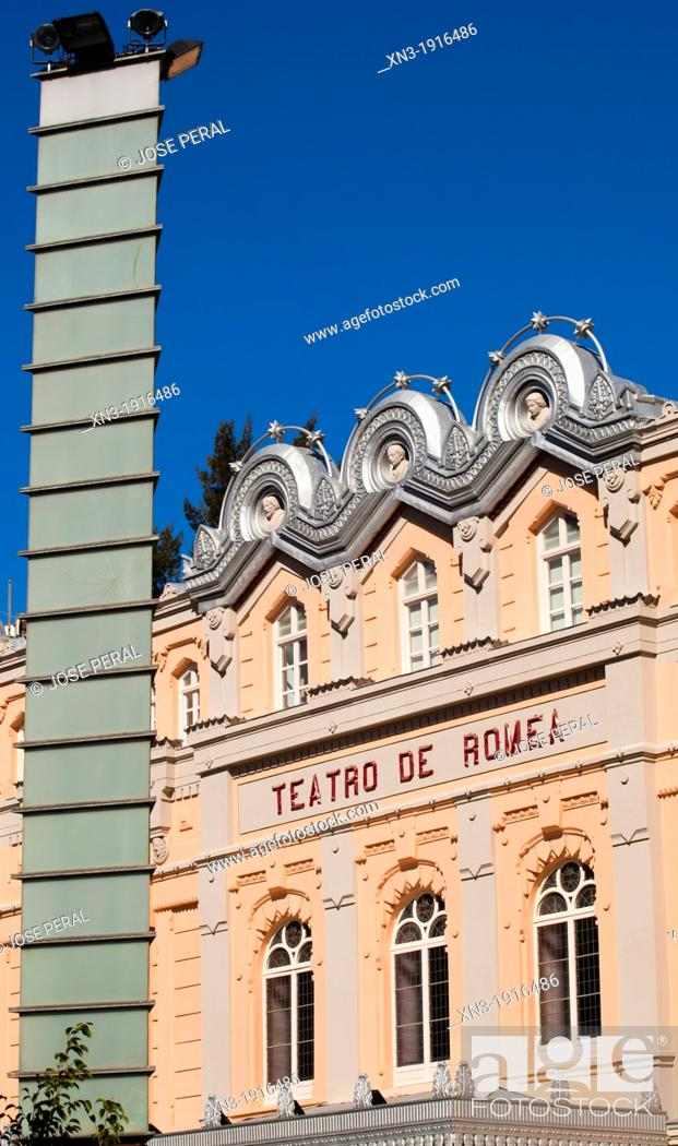 Stock Photo: Romea Theater, Square Julián Romea, City of Murcia, South Eastern, Spain, Europe.