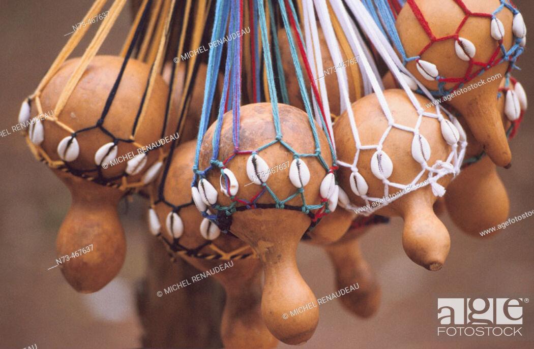 Stock Photo: Gourds. Handicrafts. Ivory Coast.