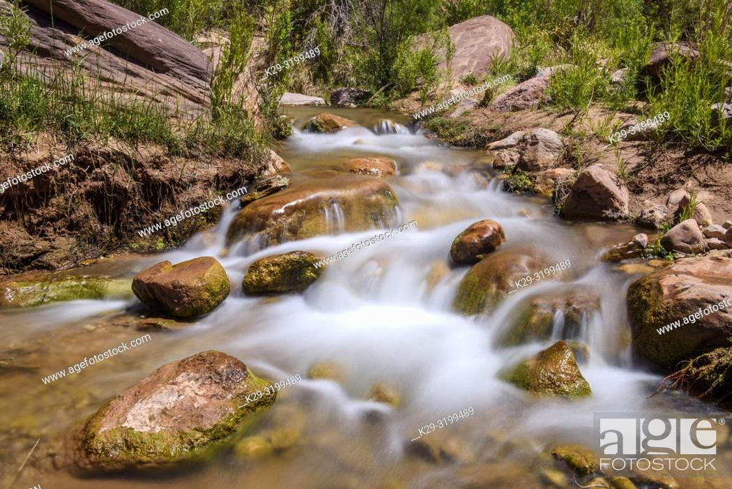 Stock Photo: Deer Creek outflow (mile 137), Grand Canyon National Park, Arizona, USA.