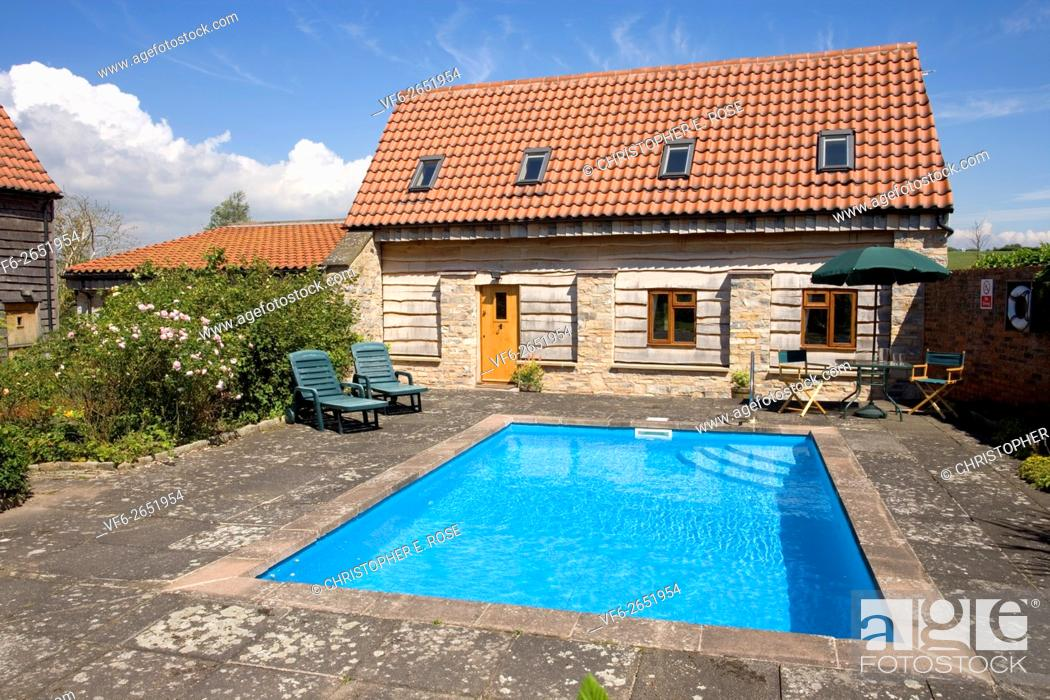 Uk Real Estate Small Outdoor Swimming Pool In Garden Of House Stock Photo Picture And Rights Managed Image Pic Vf6 2651954 Agefotostock