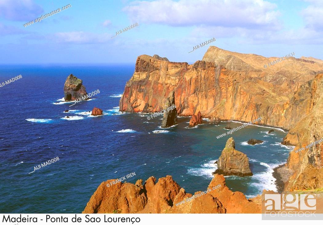 Stock Photo: Portugal - Madeira - Ponta de Sao Lourenco.