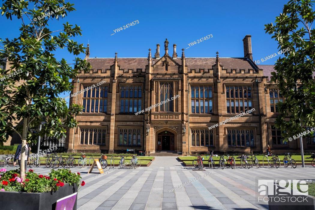 Photo de stock: University of Sydney, Anderson Stuart Building, housing the Sydney Medical School, Sydney, Australia.