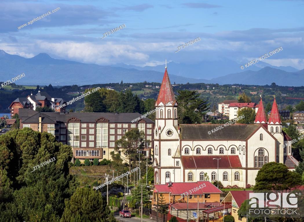 Stock Photo: Sagrado Corazon de Jesus Church, Puerto Varas, Llanquihue Province, Los Lagos Region, Chile.