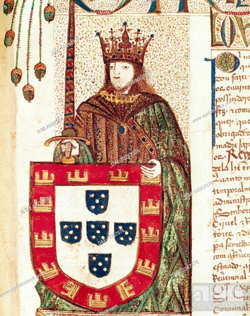 Stock Photo: Portrait of John II of Portugal, known as The Perfect Prince (Lisbon, 1455-Alvor, 1495), King of Portugal and the Algarves.
