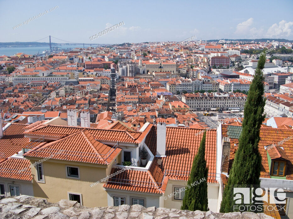 Stock Photo: Views from Lisbon, Portugal Lisbon Portuguese: Lisboa is the capital and largest city of Portugal Lisbon is situated at 38842' north, 985' west.