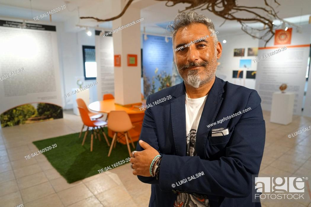 Stock Photo: Pierluigi Gallo President of the Muclem, a museum dedicated to the tangerines , Corigliano Rossano, ITALY-15-05-2020.