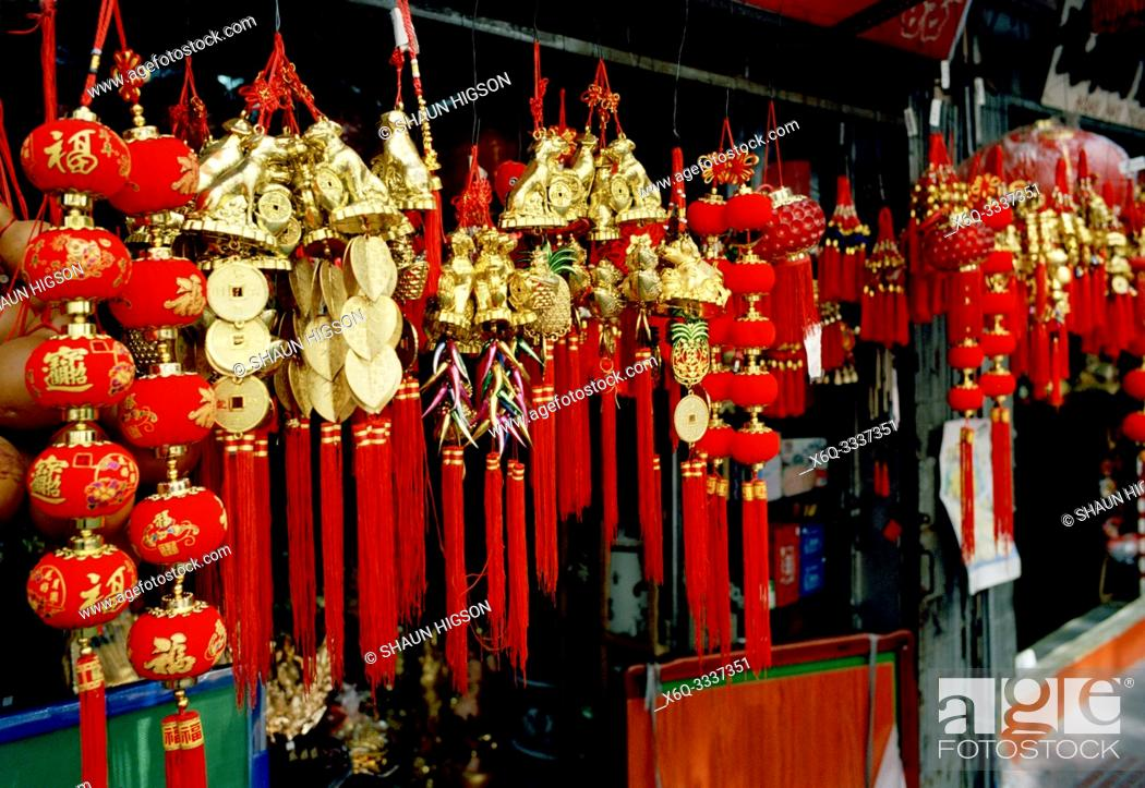 Stock Photo: Chinatown in Manila in Luzon Metro Manila in the Philippines in Southeast Asia Far East.