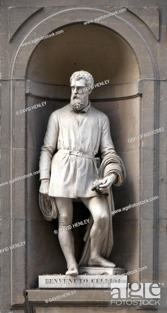 Stock Photo: Benvenuto Cellini (3 November 1500 – 13 February 1571) was an Italian goldsmith, sculptor, draftsman, soldier, musician, and artist who also wrote a famous.