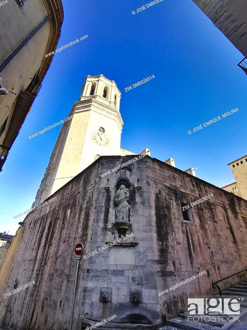 Stock Photo: Girona old center, Catalonia, Spain, Europe.