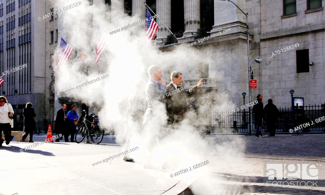 Stock Photo: New York City, wall street stock exchange.