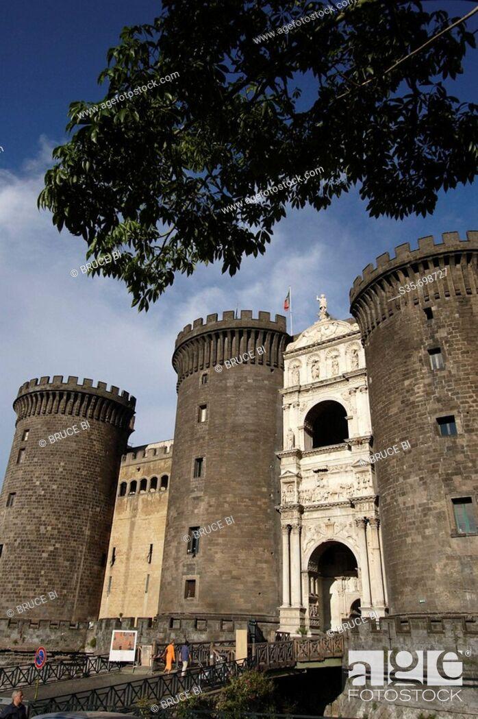 Stock Photo: Castel Nuovo. Naple. Campania. Italy.