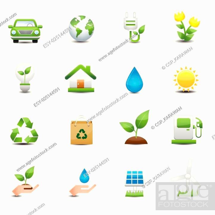 Stock Vector: Energy icons set.