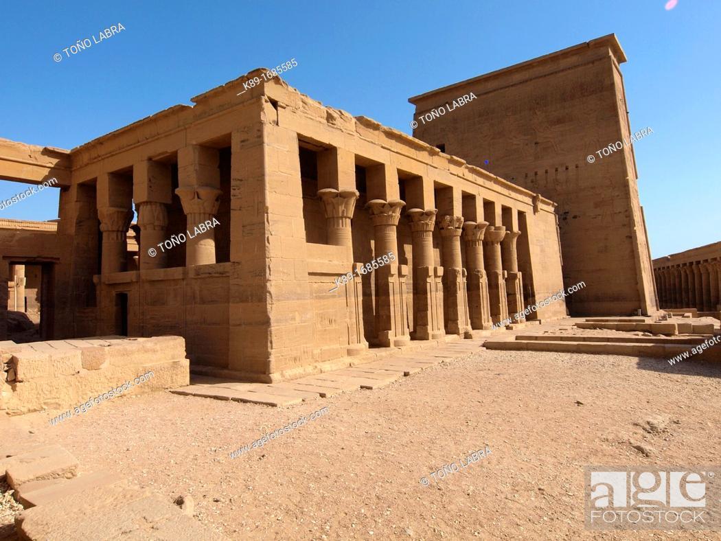 Photo de stock: Philae, Isis Temple, Aswan, Upper Egypt.